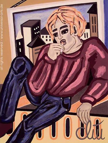 universal arts Jacqueline Ditt & Mario Strack, Leger von Jacqueline Ditt, Menschen: Mann, Diverse Menschen, Expressionismus