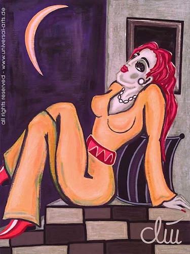 universal arts Jacqueline Ditt & Mario Strack, Vertäumt von Jacqueline Ditt, Menschen: Frau, Diverse Menschen, Expressionismus