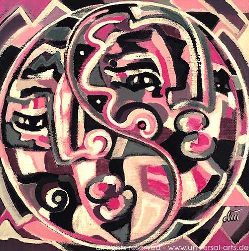 universal arts Jacqueline Ditt & Mario Strack, Yin Yang von Jacqueline Ditt, Symbol, Menschen: Porträt