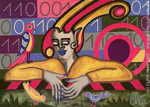 universal arts Jacqueline Ditt & Mario Strack, Leaving the Datahighway von Jacqueline Ditt, Fantasie, Symbol, Expressionismus