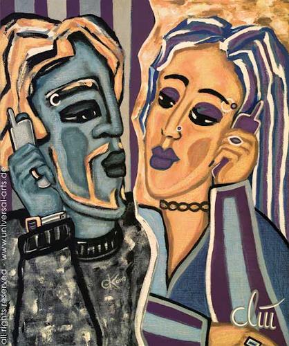 universal arts Jacqueline Ditt & Mario Strack, Wireless Loveconnection von Jacqueline Ditt, Menschen: Paare, Technik, Expressionismus