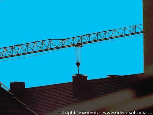 universal arts Jacqueline Ditt & Mario Strack, The Roof is on Top 3 von Mario Strack, Architektur, Diverse Bauten, Realismus