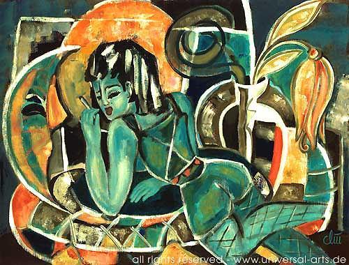 universal arts Jacqueline Ditt & Mario Strack, Die Nacht von Jacqueline Ditt, Akt/Erotik: Akt Frau, Menschen: Frau, Expressionismus