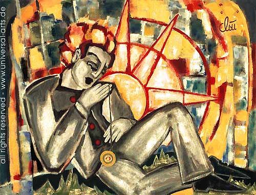 universal arts Jacqueline Ditt & Mario Strack, Der Tag von Jacqueline Ditt, Menschen: Mann, Diverse Menschen, Expressionismus