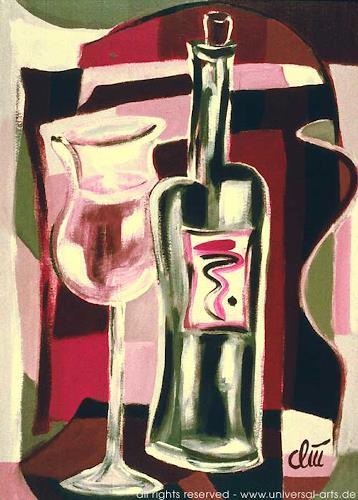 universal arts Jacqueline Ditt & Mario Strack, Red Wine von Jacqueline ditt, Stilleben, Essen, Expressionismus