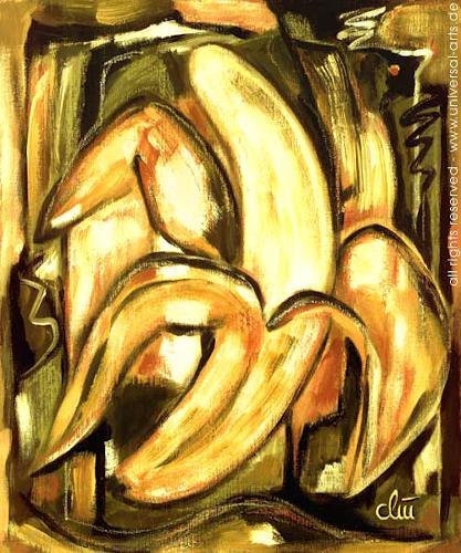 universal arts Jacqueline Ditt & Mario Strack, Banane Pur von Jacqueline Ditt, Stilleben, Stilleben, Expressionismus