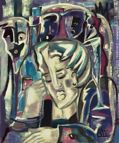 universal arts Jacqueline Ditt & Mario Strack, Der Rausch von Jacqueline Ditt, Menschen: Mann, Diverse Menschen, Expressionismus