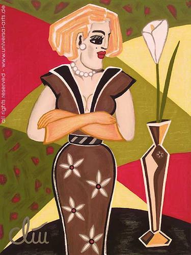 universal arts Jacqueline Ditt & Mario Strack, Selbstbewusst von Jacqueline Ditt, Menschen: Frau, Menschen: Modelle, Expressionismus