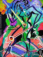 universal-arts-Jacqueline-Ditt---Mario-Strack-Menschen-Frau-Musik-Instrument