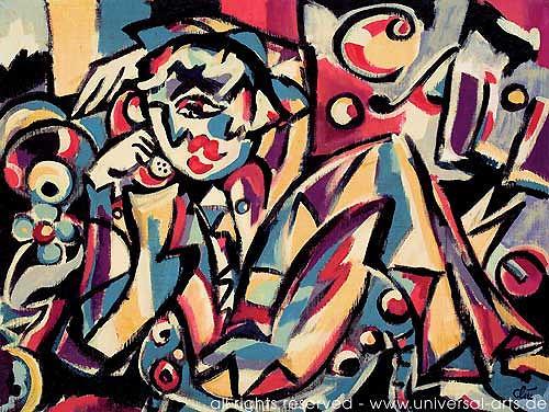 universal arts Jacqueline Ditt & Mario Strack, Call Me von Jacqueline Ditt, Menschen: Mann, Wohnen: Zimmer