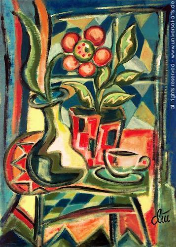 universal arts Jacqueline Ditt & Mario Strack, Stilleben von Jacqueline Ditt, Stilleben, Pflanzen: Blumen, Expressionismus