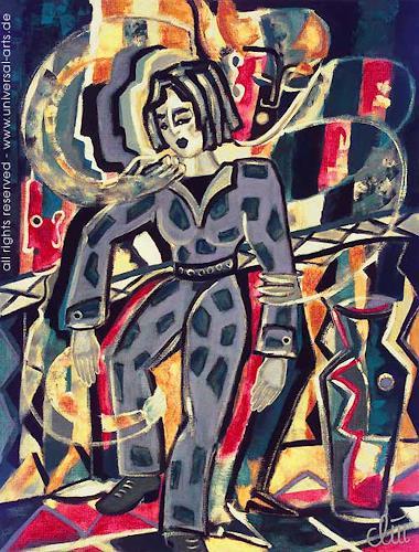 universal arts Jacqueline Ditt & Mario Strack, Temporary Vertigo von Jacqueline Ditt, Menschen: Frau, Diverse Gefühle, Expressionismus