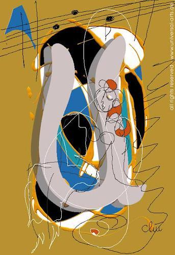 universal arts Jacqueline Ditt & Mario Strack, SoundTrack 3 von Jacqueline Ditt, Abstraktes, Diverse Menschen, Expressionismus