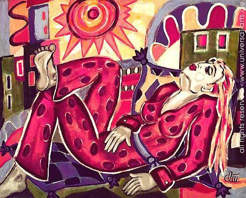 universal arts Jacqueline Ditt & Mario Strack, Good Vibration von Jacqueline Ditt, Menschen: Frau, Gefühle: Freude, Expressionismus