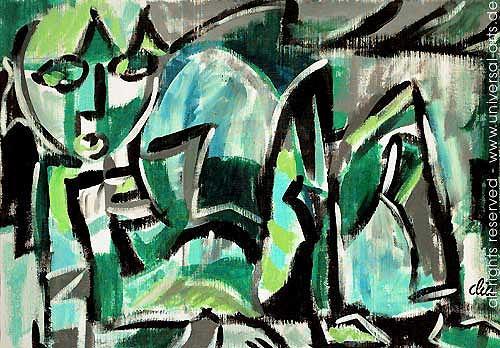 universal arts Jacqueline Ditt & Mario Strack, Der Waldgeist von Jacqueline Ditt, Mythologie, Fantasie, Expressionismus