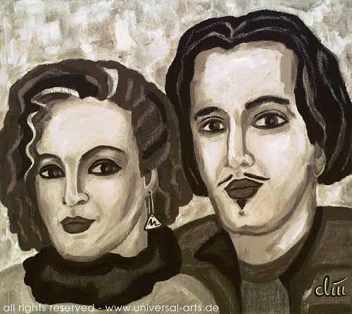 universal arts Jacqueline Ditt & Mario Strack, Das Künstlerpaar, Menschen: Paare, Menschen: Porträt, Expressionismus
