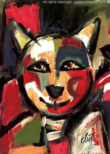 universal arts Jacqueline Ditt & Mario Strack, Der Fröhliche Kater, Tiere: Land, Diverse Tiere, Expressionismus