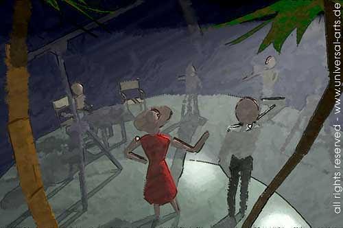 universal arts Jacqueline Ditt & Mario Strack, Un Film Francais 3 von Mario Strack, Menschen: Gruppe, Diverse Menschen, Minimal Art