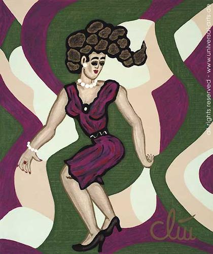 universal arts Jacqueline Ditt & Mario Strack, Twist von Jacqueline Ditt, Bewegung, Menschen: Frau, Expressionismus