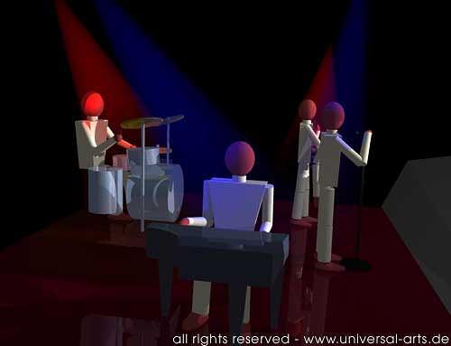 universal arts Jacqueline Ditt & Mario Strack, The Band 2 von mario Strack, Musik: Konzert, Musik: Musiker, Minimal Art