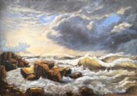 Mascha-Dueben-Natur-Wasser-Landschaft-See-Meer-Neuzeit-Historismus