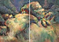 Mascha-Dueben-Landschaft-Huegel-Abstraktes-Gegenwartskunst--Gegenwartskunst-