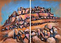 Mascha-Dueben-Landschaft-Berge-Natur-Diverse-Gegenwartskunst--Gegenwartskunst-