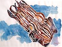 Mascha-Dueben-Tiere-Wasser-Diverse-Tiere-Gegenwartskunst--Gegenwartskunst-