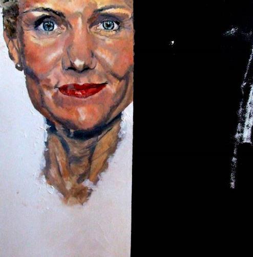 Cass Oest, NICHTS !!! ist nur Schwarz oder Weiss, Menschen: Frau, Realismus, Abstrakter Expressionismus
