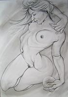 Martin-Butler-Bewegung-Akt-Erotik-Akt-Frau-Gegenwartskunst--Gegenwartskunst-