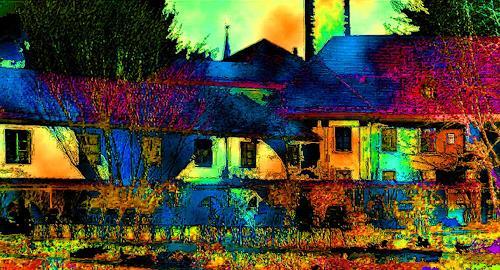 anita rössler, garden of paradies, Landschaft: Sommer, Neo-Geo