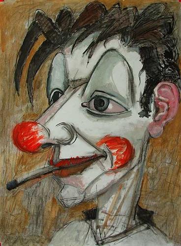 Lubomir Tkacik, Clown with cigarette, Zirkus: Clown
