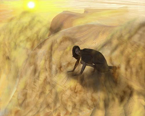eric j rhoades, Sand Storm, Diverse Landschaften, Expressionismus