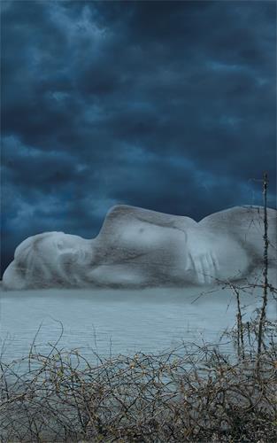 eric j rhoades, Fog, Landschaft: See/Meer, Abstrakter Expressionismus