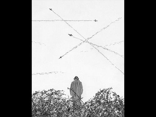 eric j rhoades, The Traveller 4, Menschen: Mann, Gegenwartskunst
