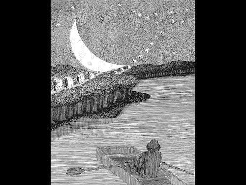 eric j rhoades, The Traveller 6, Menschen: Mann, Gegenwartskunst