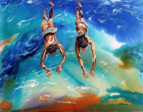 Ligo, Underwater, Menschen: Paare, Natur: Wasser