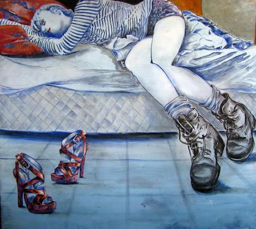 Ligo, New shoes, Gefühle: Liebe, Diverse Gefühle, Neo-Expressionismus, Abstrakter Expressionismus