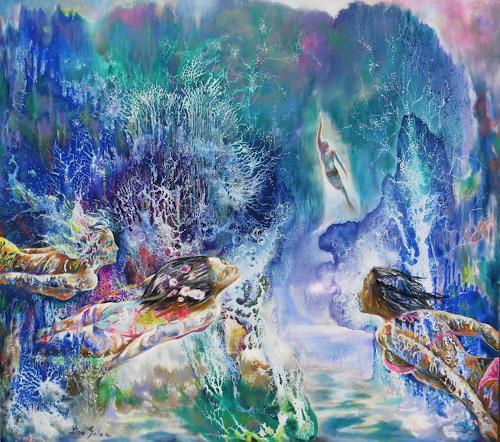 Ligo, Deepwater, Landschaft: See/Meer, Romantik, Gegenwartskunst