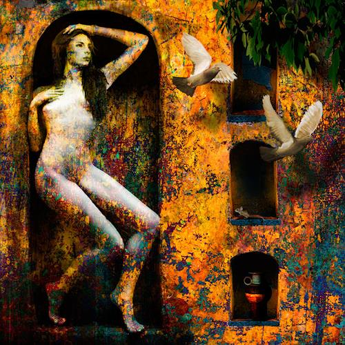 Van Renselar, In Dinas, Akt/Erotik: Akt Frau, Abstraktes, expressiver Realismus, Expressionismus