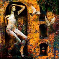 Van-Renselar-Akt-Erotik-Akt-Frau-Abstraktes-Moderne-expressiver-Realismus