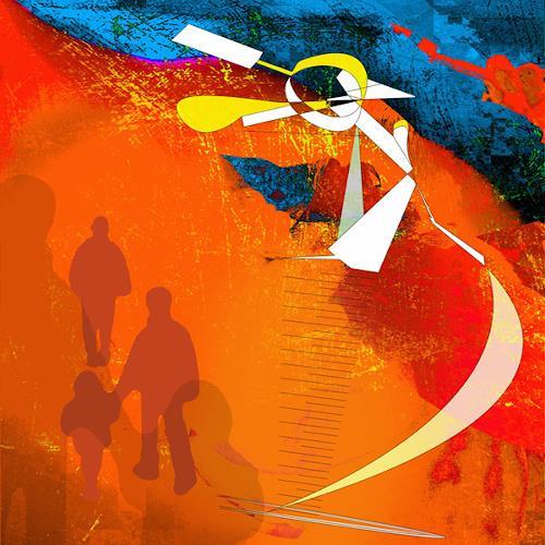 Van Renselar, Amongst Us, Abstraktes, Abstrakte Kunst