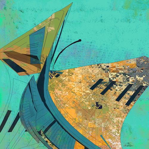 Van Renselar, Pity's Long Broken Urn, Abstraktes, Abstraktes, Abstrakte Kunst, Abstrakter Expressionismus