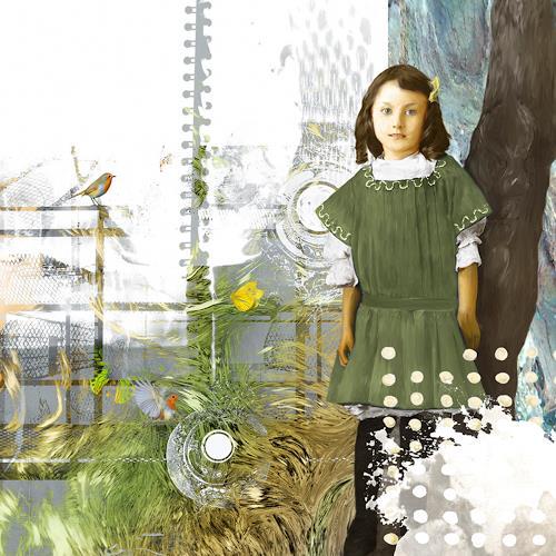 Van Renselar, The February Robins, Abstraktes, Menschen: Kinder, expressiver Realismus, Expressionismus