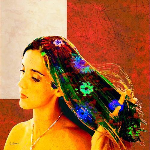Van Renselar, Fleur 3, Diverses, Abstraktes, Moderne, Expressionismus