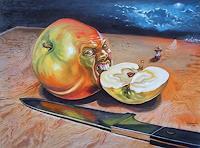Ramaz-Razmadze-Fantasie-Stilleben-Gegenwartskunst--Postsurrealismus