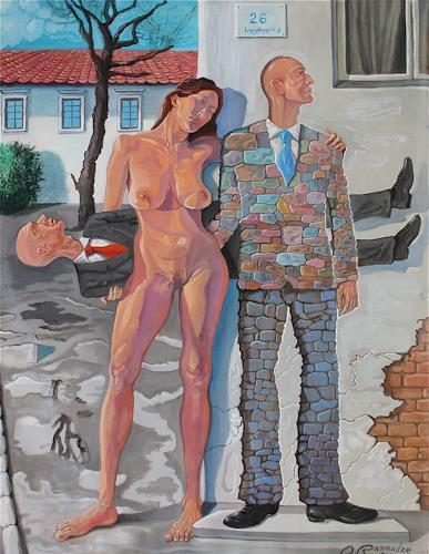 Ramaz Razmadze, Looking for Love, Akt/Erotik: Akt Frau, Fantasie, Postsurrealismus