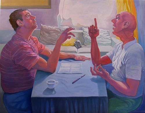 Ramaz Razmadze, Important Theme, Menschen: Mann, Situationen, expressiver Realismus, Expressionismus