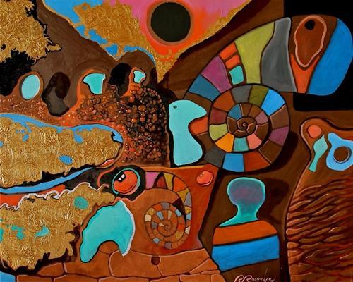 Ramaz Razmadze, Spiral Vacation, Abstraktes, Fantasie, Abstrakte Kunst, Expressionismus