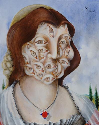 Zoran Velimanovic, Madonna with 21 eyes, Fantasie, Postsurrealismus